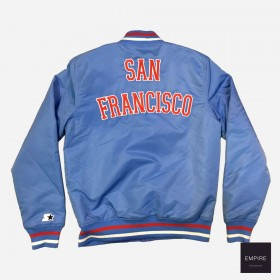 STJKT007_Jacket Nylon Starter Blue San Francisco