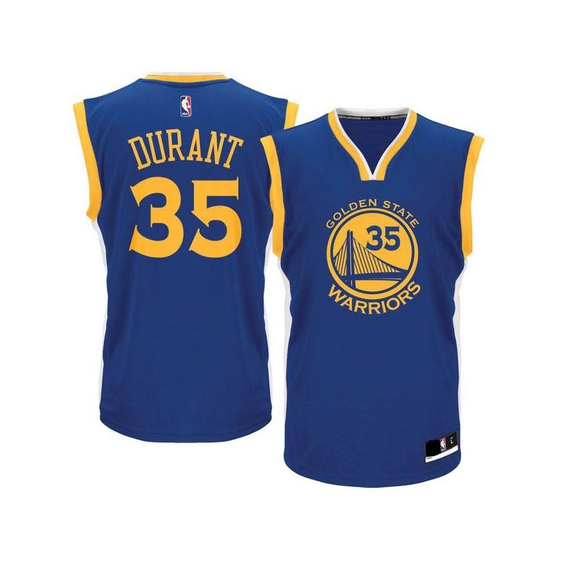 bb1c119bf8ea8 Maillot NBA Kevin Durant Golden States Warriors bleu pour Junior