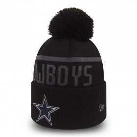 Bonnet NFL avec Pompom Dallas Cowboys New Era BLACK COLLECTION Noir