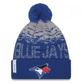 Bonnet MLB Toronto Bluejays à pompon New Era Sport Knit bleu