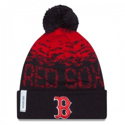 Bonnet MLB Bonston red Sox à pompon New Era Sport Knit Navy
