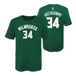 EK2B7TD99B01_T-shirt NBA Giánnis Antetokoúnmpo Milwaukee Bucks Vert pour enfant