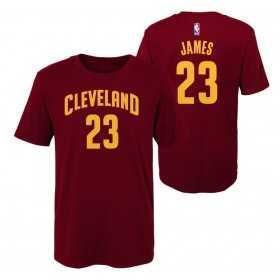 EK2B7TD99B01LJ_T-shirt NBA Lebron James Cleveland Cavaliers rouge pour enfant
