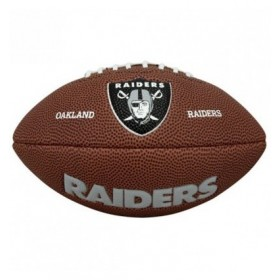 Mini ballon de Football Américain Wilson NFL team logo Oakland Raiders