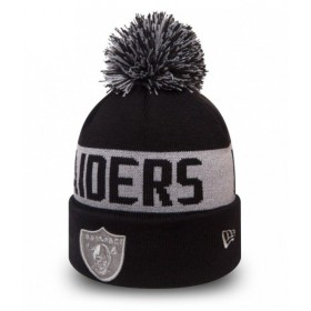 80524580_Bonnet NFL Oakland Raiders New Era Team Tonal Noir avec pompon