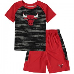 EK2B3BAAEBUL_T-shirt et short NBA Chicago Bulls rouge pour enfant