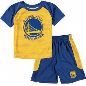 EK2B3BAAEWAR_T-shirt et short NBA Golden State Warriors Bleu pour enfant