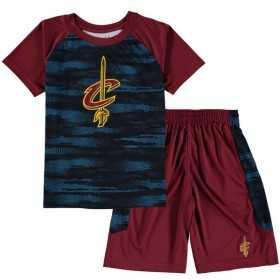 EK2B3BAAECAVS_T-shirt et short NBA Cleveland Cavaliers Bleu pour enfant