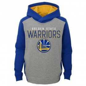EK2B7BBAPWAR_Sweat à capuche NBA Golden State Warriors Gris pour enfant