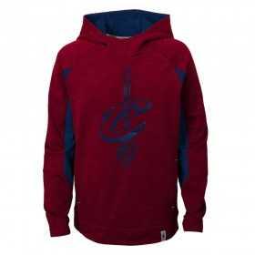 EK2B7BBANCAV_Sweat à capuche NBA Cleveland Cavaliers rouge pour enfant