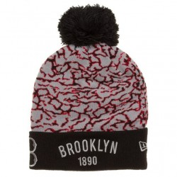 111104354_Bonnet MLB Brooklyn Dodgers 1890 à pompon New Era ElephantTop Noir