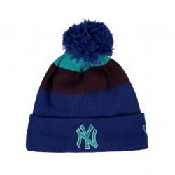 80196422_Bonnet MLB New York Yankees à pompon New Era Blockstripe Bleu
