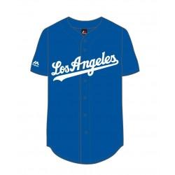 MLD2804ZH_Maillot de Baseball MLB 2017 Los Angeles Dodgers Majestic Bleu