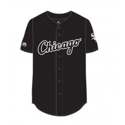 MCW2804DB_Maillot de Baseball MLB 2017 Chicago White Sox Replica Majestic Noir
