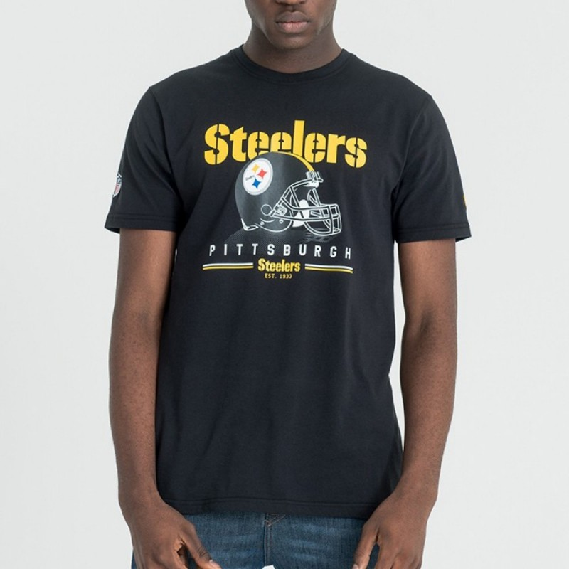 5e380f529 11493656 T-Shirt NFL Pittsburgh Steelers New Era Fan Pack Noir