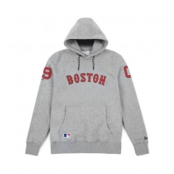 11493692_Sweat à Capuche MLB Boston Red Sox New Era East Coast Gris pour Homme