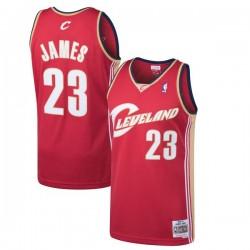 Maillot NBA Hardwood Classics Lebron James Cleveland Cavaliers Rouge Pour enfants