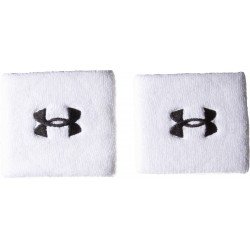 "Under Armour performance wristband 3"" blanc"