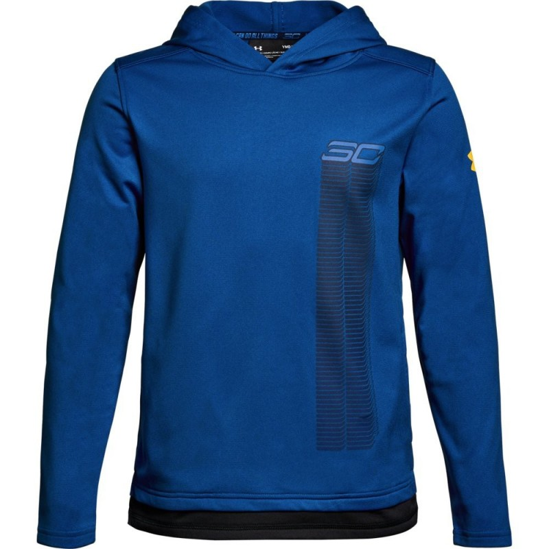 1306219-400_Sweat à capuche Under armour SC30 Warm up Hoody Bleu Pour Enfant