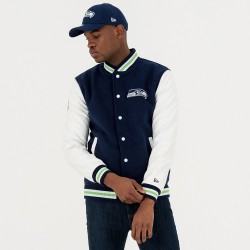 11517696_Blouson NFL Seattle Seahawks New Era Team Apparel Varsity Jacket Bleu pour homme