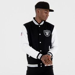 11517697_Blouson NFL Oakland Raiders New Era Team Apparel Varsity Jacket Noir pour homme