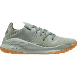 """3000083-301_Chaussure de Basketball tige basse Under Armour Curry 4 low """"Grove Green"""" Vert pour homme"""