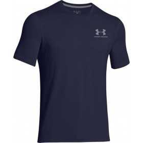 1257616-410_T-shirt Under Armour Sportstyle Left Chest Lockup bleu Navy pour homme
