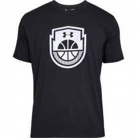 1305711-001_T-shirt Under Armour Basketball Icon Noir pour homme