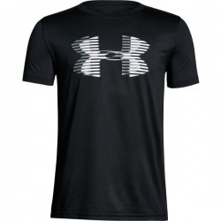 1306073-001_T-shirt pour enfant Under Armour Big Logo Solid Noir