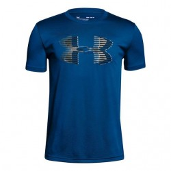 1306073-400_T-shirt pour enfant Under Armour Big Logo Solid Bleu
