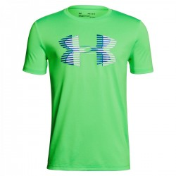 1306073-701_T-shirt pour enfant Under Armour Big Logo Solid vert