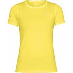 1285637-159_T-shirt Under Armour Heatgear jaune pour femme