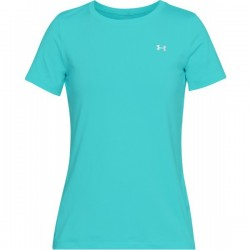 1285637-425_T-shirt Under Armour Heatgear bleu pour femme
