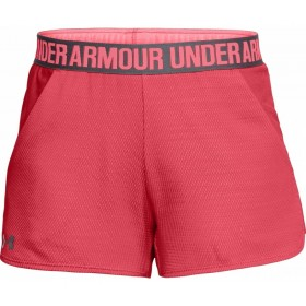 1305421-714_Short pour femme Under Armour play up 2.0 Novelty rose