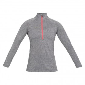 1320128-040_Veste 1/2 zippé pour femme Under Armour Tech Twist gris