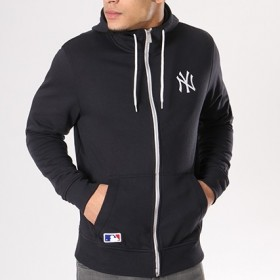 11517709_Veste Zippé NFL New York Yankees New Era Team Apparel 2018 Bleu Marine pour homme