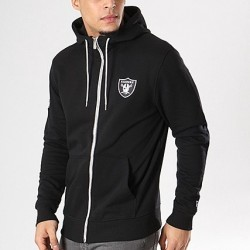 11517707_Veste Zippé NFL Oakland Raiders New Era Team Apparel 2018 Noir pour homme