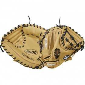 """Gant de Catcher  Baseball Wilson A500 32"""" Crème"""