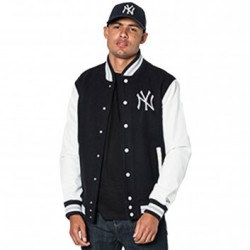 11517698_Blouson MLB NEw York Yankees New Era Team Apparel Varsity Jacket Bleu Marine pour homme