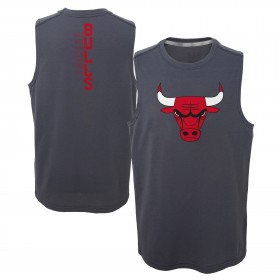 EK2B7BAA0_Débardeur NBA Chicago Bulls gris pour enfant