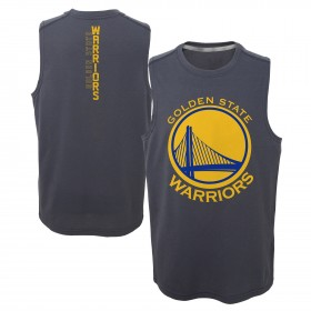 EK2B7BAA0WAR_Débardeur NBA Golden State Warriors gris pour enfant