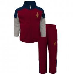 EK2B3BAAICAV_Veste Zippé et pantalon NBA Cleveland Cavaliers rouge pour enfant
