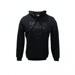 11546180_Sweat à Capuche NBA Chicago Bulls New Era Team Logo PO Hoody Noir pour Homme