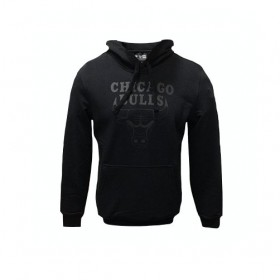 11546180_Sweat à Capuche NBA Chicago Bulls New Era Team Logo PO Hoody Noir pour Homme