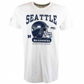 T-Shirt NFL Seattle Seahawks New Era Helmet Classic Blanc pour homme
