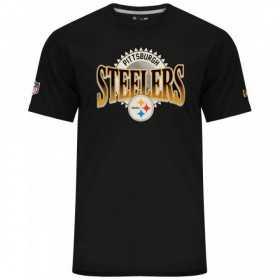 11517740_T-Shirt NFL Pittsburgh Steelers New Era Fan Pack Bleu Noir pour homme