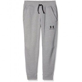 1320135-035_Pantalon de Jogging Under Armour Cotton Fleece gris pour enfant