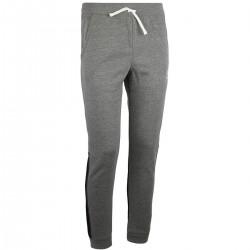1320135-001_Pantalon de Jogging Under Armour Cotton Fleece gris et noir pour enfant