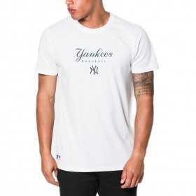 11517702_T-shirt MLB New York Yankees New Era Team Apparel Blanc pour homme