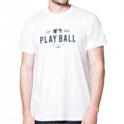"11517752_T-shirt MLB New Era Slogan ""play ball"" blanc pour homme"